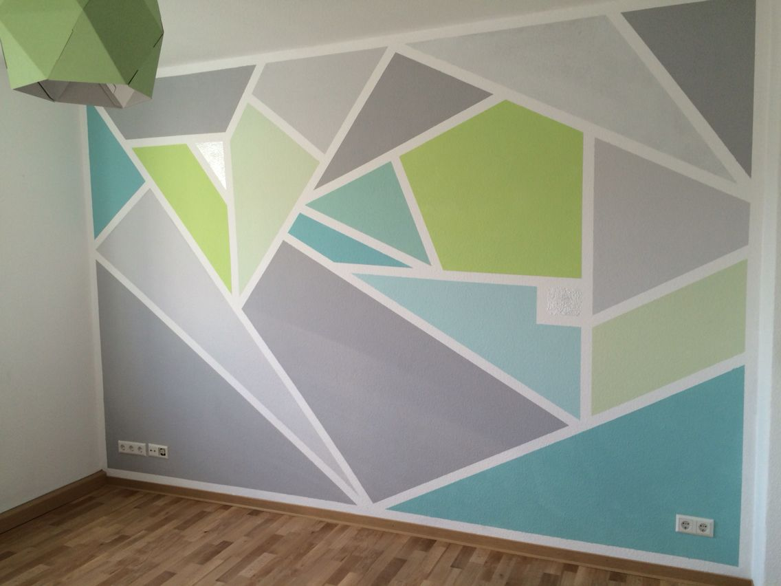 Geometric wall paint wall graphic pinterest for Geometric paint designs