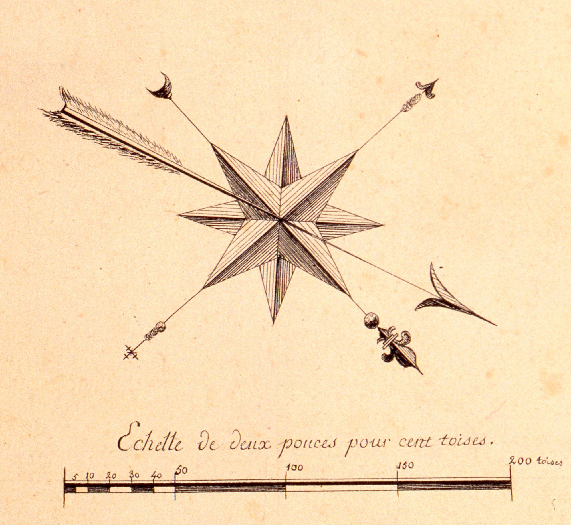 Rose Des Vents Detail D Un Plan De Avesnes Pas De Calais 1787 C Musee Des Plans Reliefs Cote C48 Rose Des Vents Carte Ancienne Cartes Anciennes