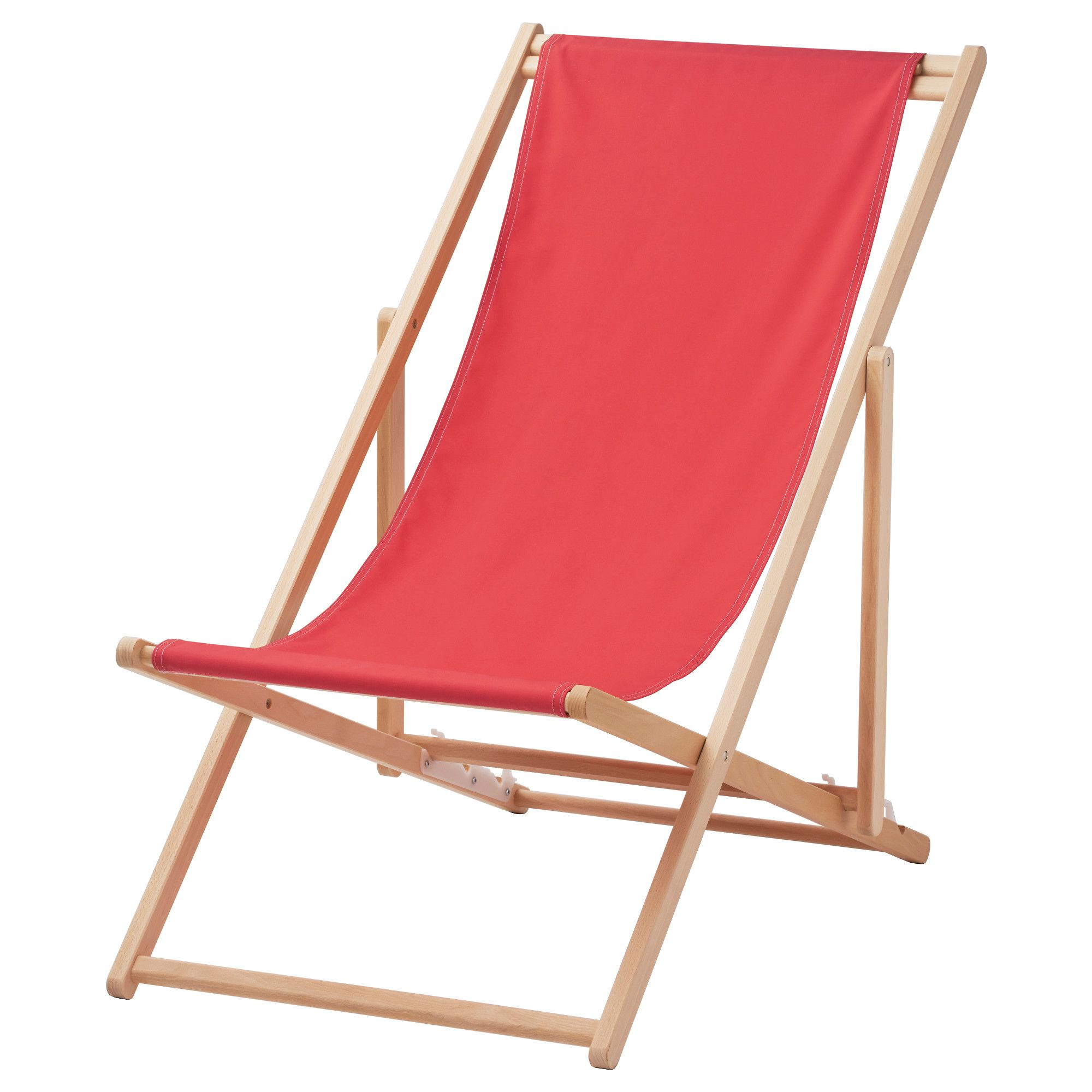 MYSINGS– Beach chair folding red IKEA