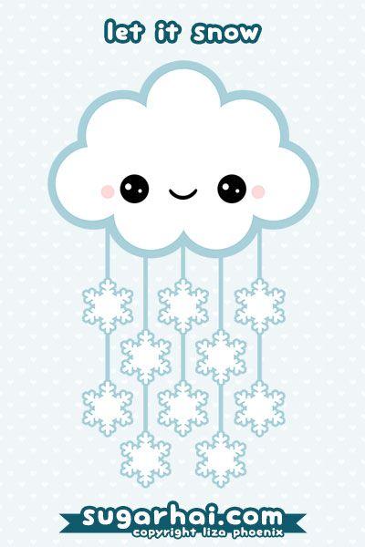 Snow Cloud Cute Kawaii Drawings Kawaii Drawings Cute Art