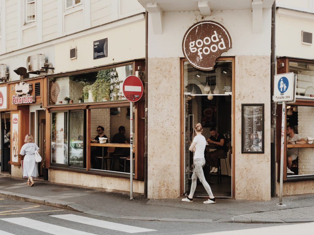 Good Food Amazing Street Food Place In Zagreb Street Food Food Places Good Food