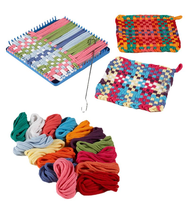Ages 6 and Up Start Your Own Weaving Projects West Coast Paracord Potholder Loops and Loom Kit