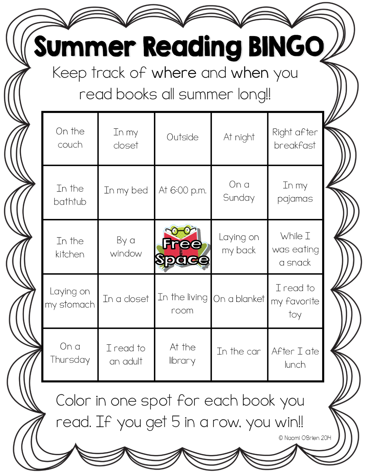read like a rock star! : summer reading bingo freebie! | tpt free