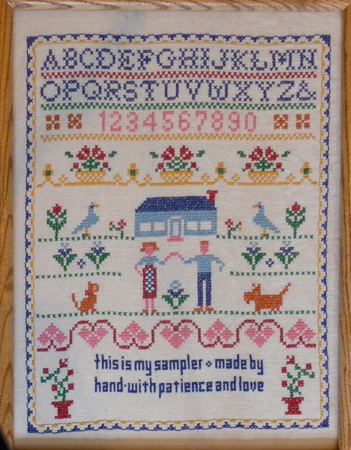 Think, Vintage cross stitch samplers apologise, but