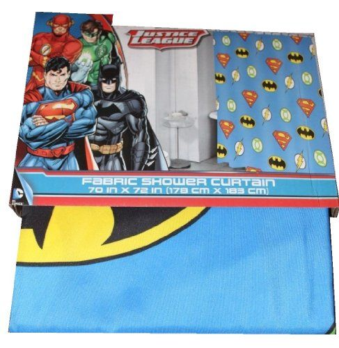 Justice League Fabric Shower Curtain 70 X 72 Dc Warner