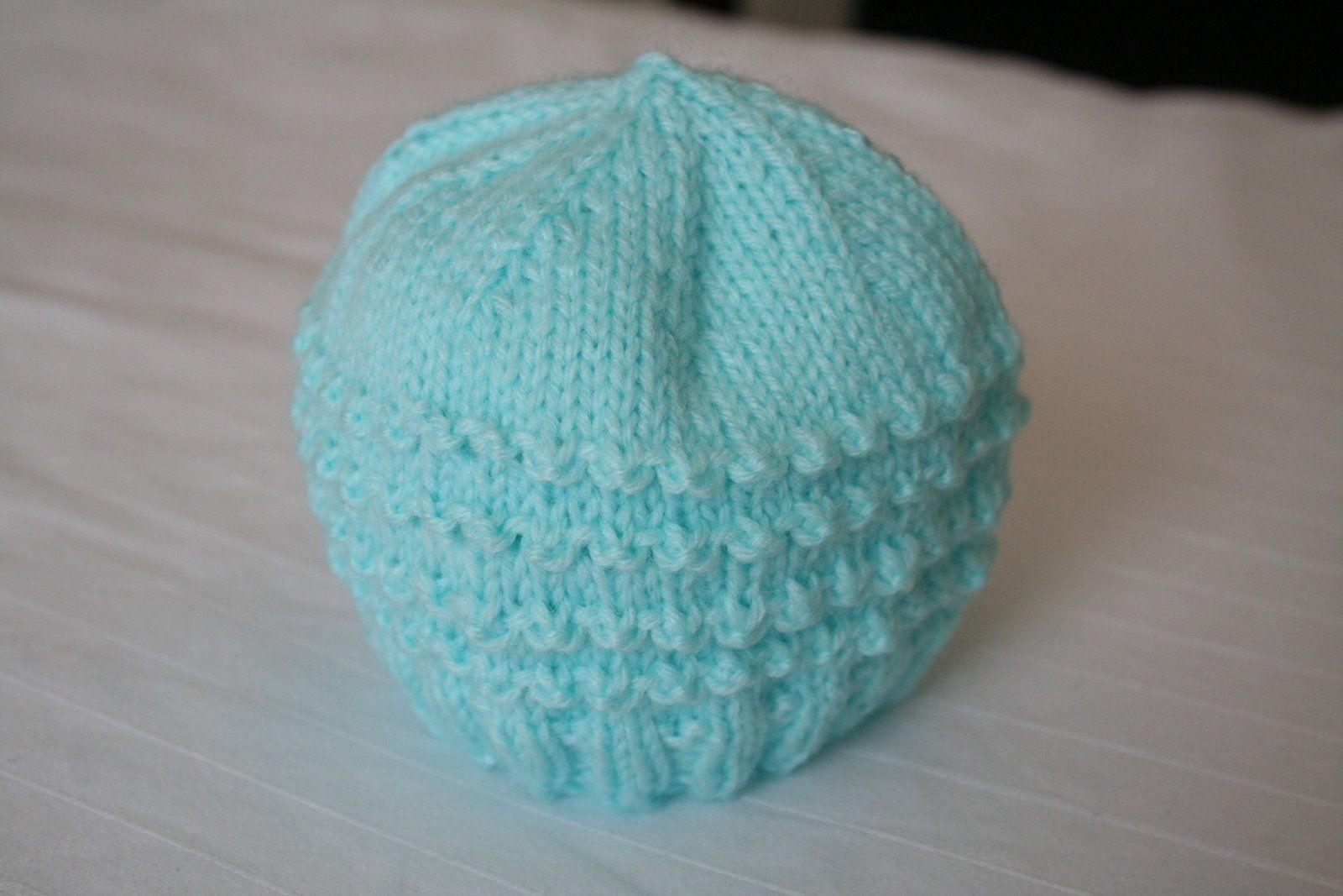 Easy Knitted Hat Pattern   Knit Preemie Hat Pattern Instruction ...