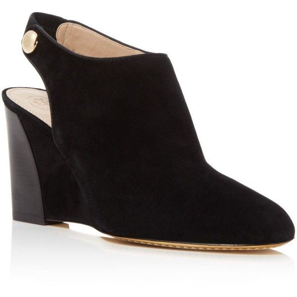 4a8227e0fb98 Tory Burch Marisa Wedge Slingback Booties ( 358) ❤ liked on Polyvore  featuring shoes