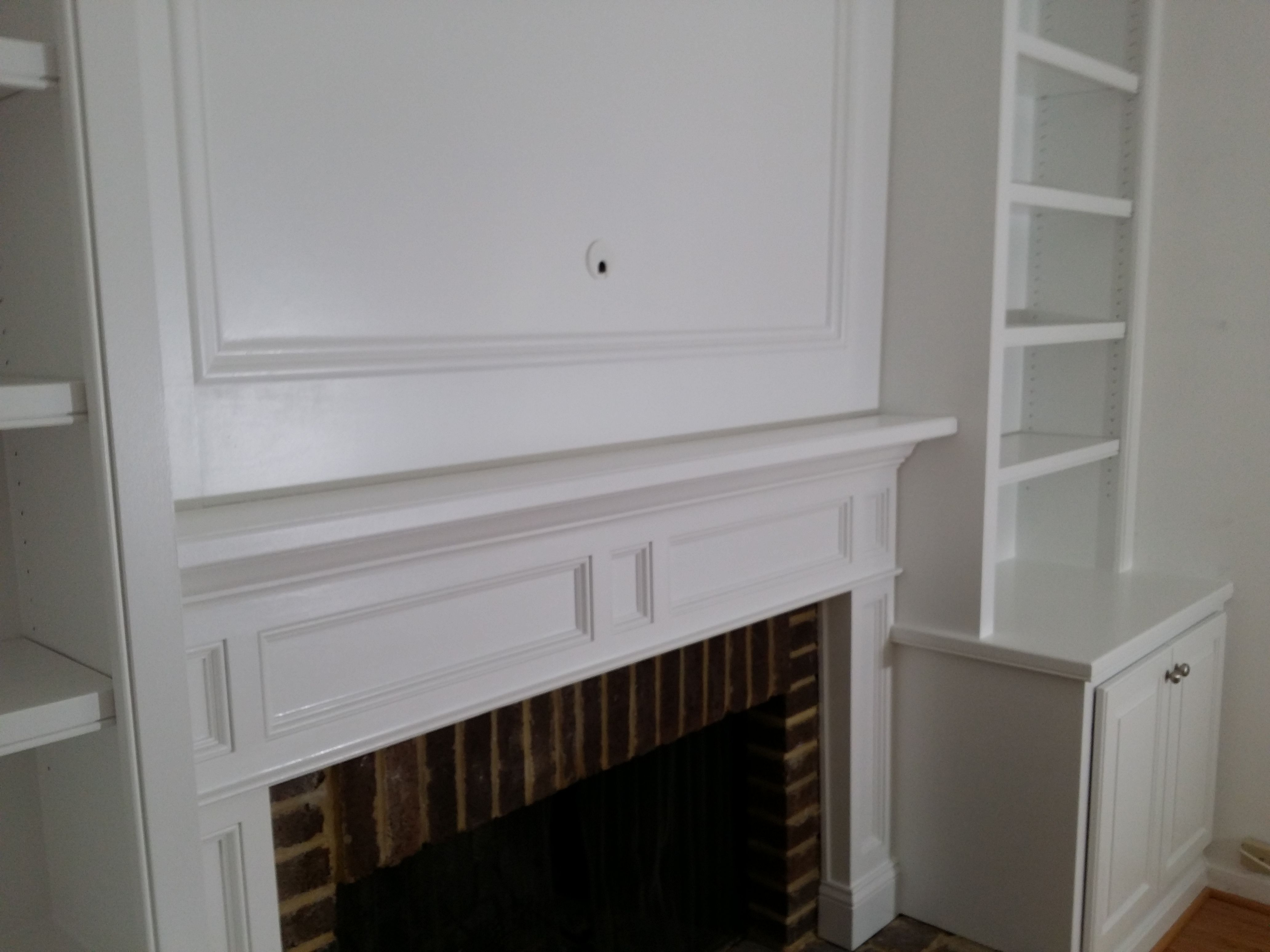 Fireplace Mantel Surround With Recessed Panels Hidden Access For