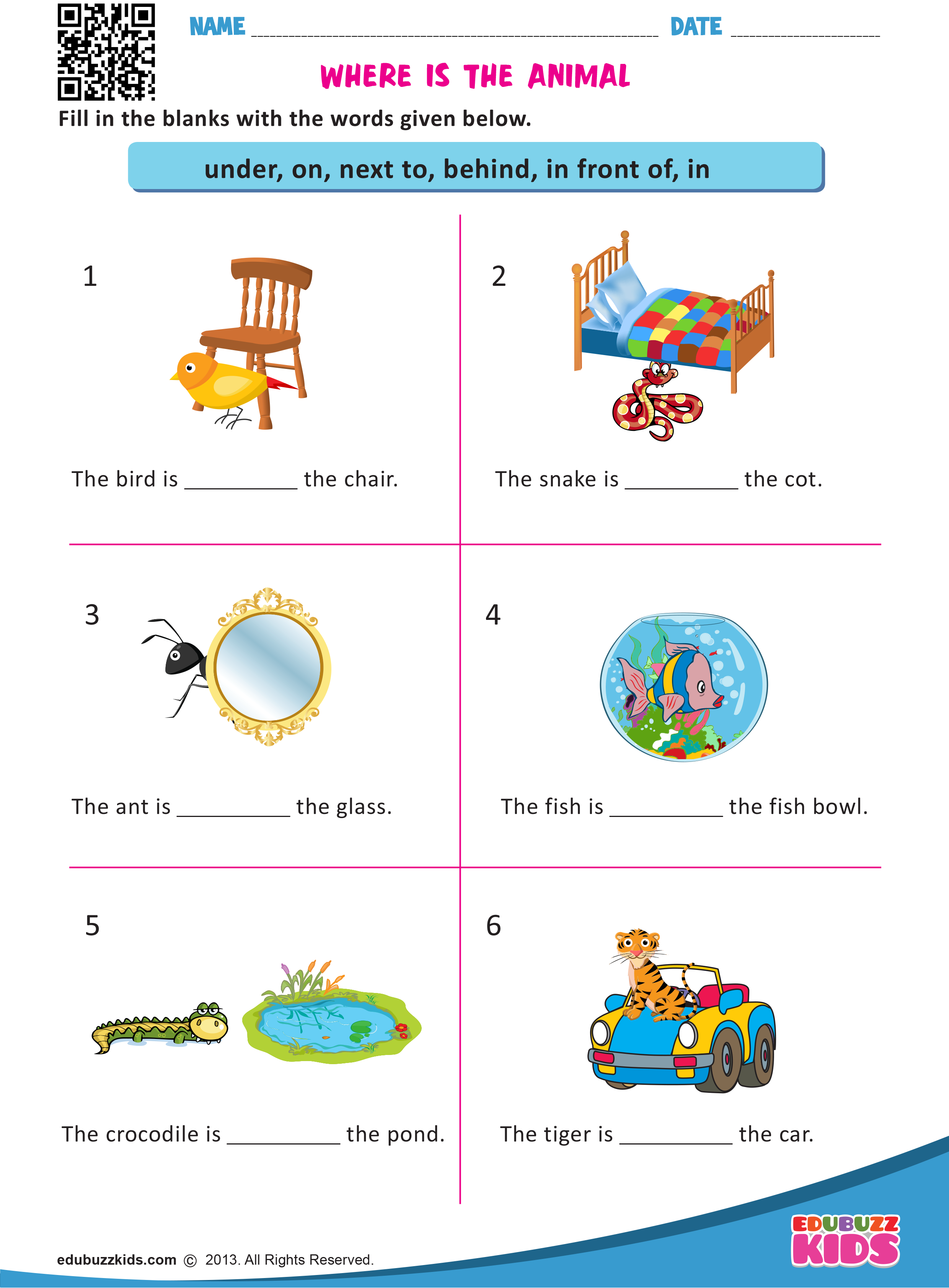 Free Printable Prepositions Worksheets For Kindergarten