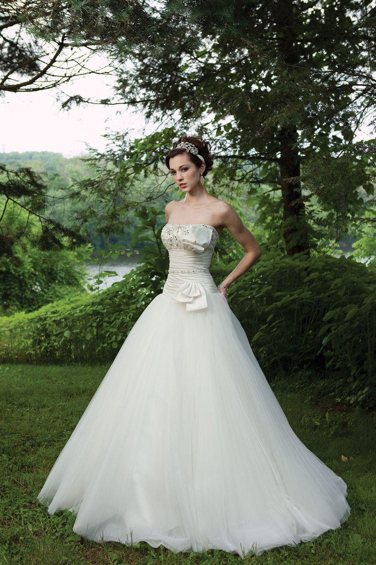 Maternity wedding dresses david's bridal  New Arrival Wedding Dresses A Line Strapless SweepBrush Train