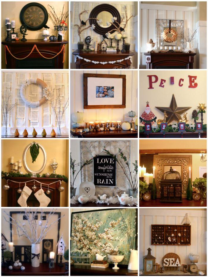 Fireplace Mantle Decor On Pinterest Mantels