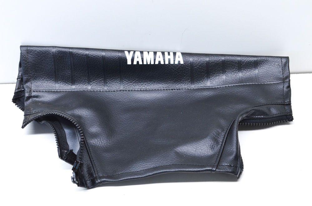Details About Oem Yamaha 90 6 19 Black Leather Handlebar Cover Nos Handlebar Yamaha Black Leather