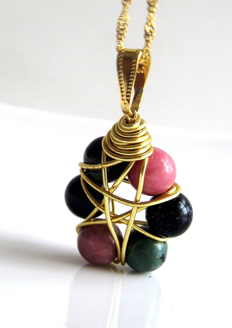 These beautiful wire wrapped pendants are simple to make | Wire ...