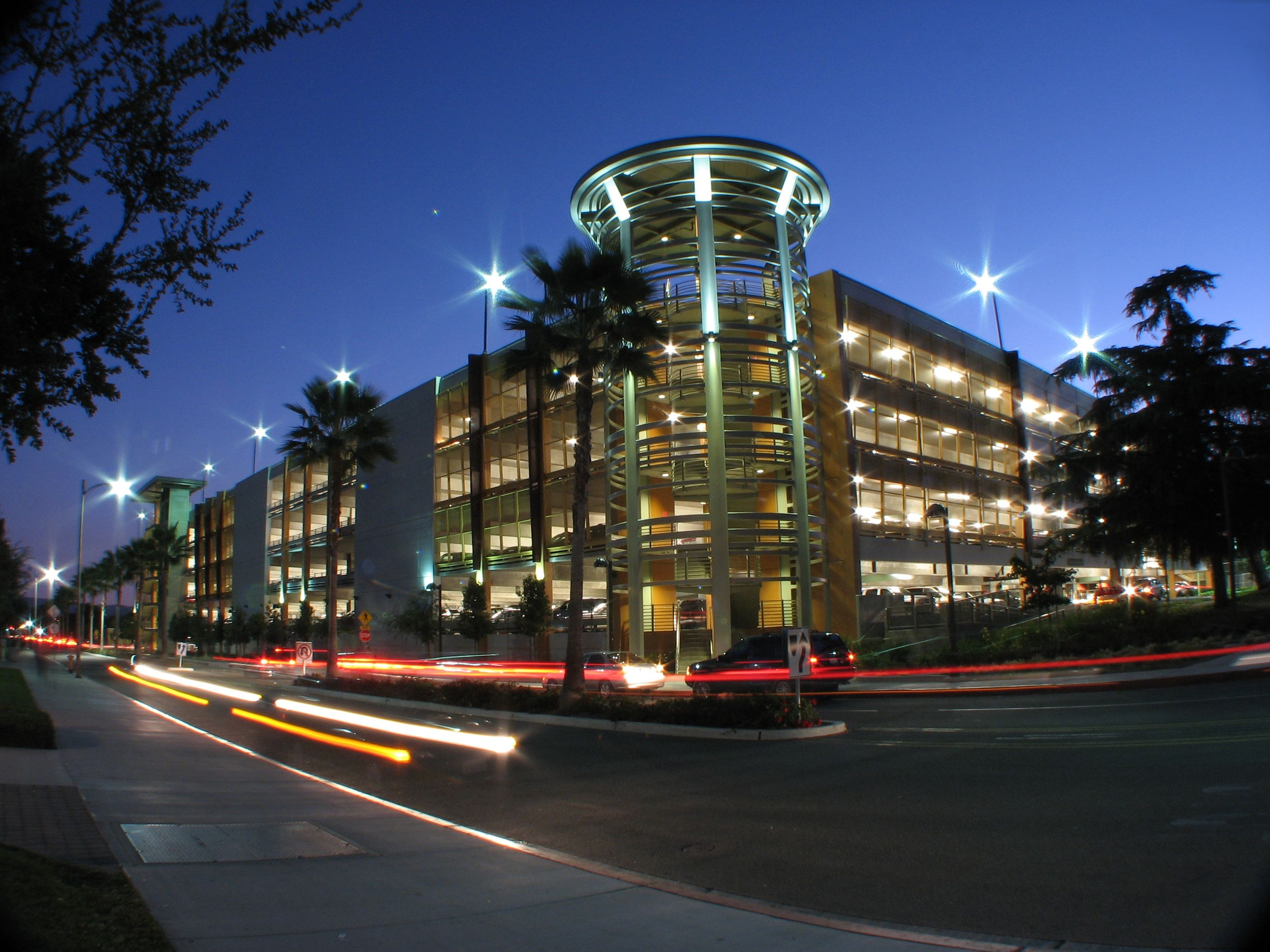 Color printing csun - B3 Parking Structure At Night