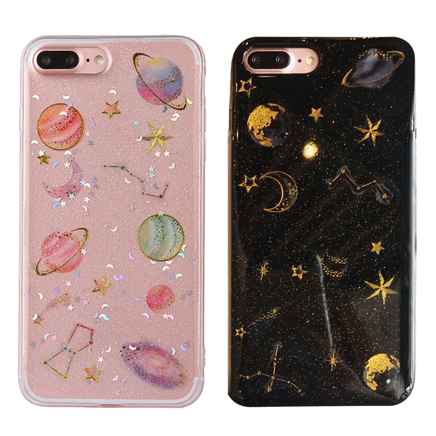 2 49 Gbp Cosmos Bling Glitter Star Planet Constellation Soft Case For Iphone X 8 7 6p