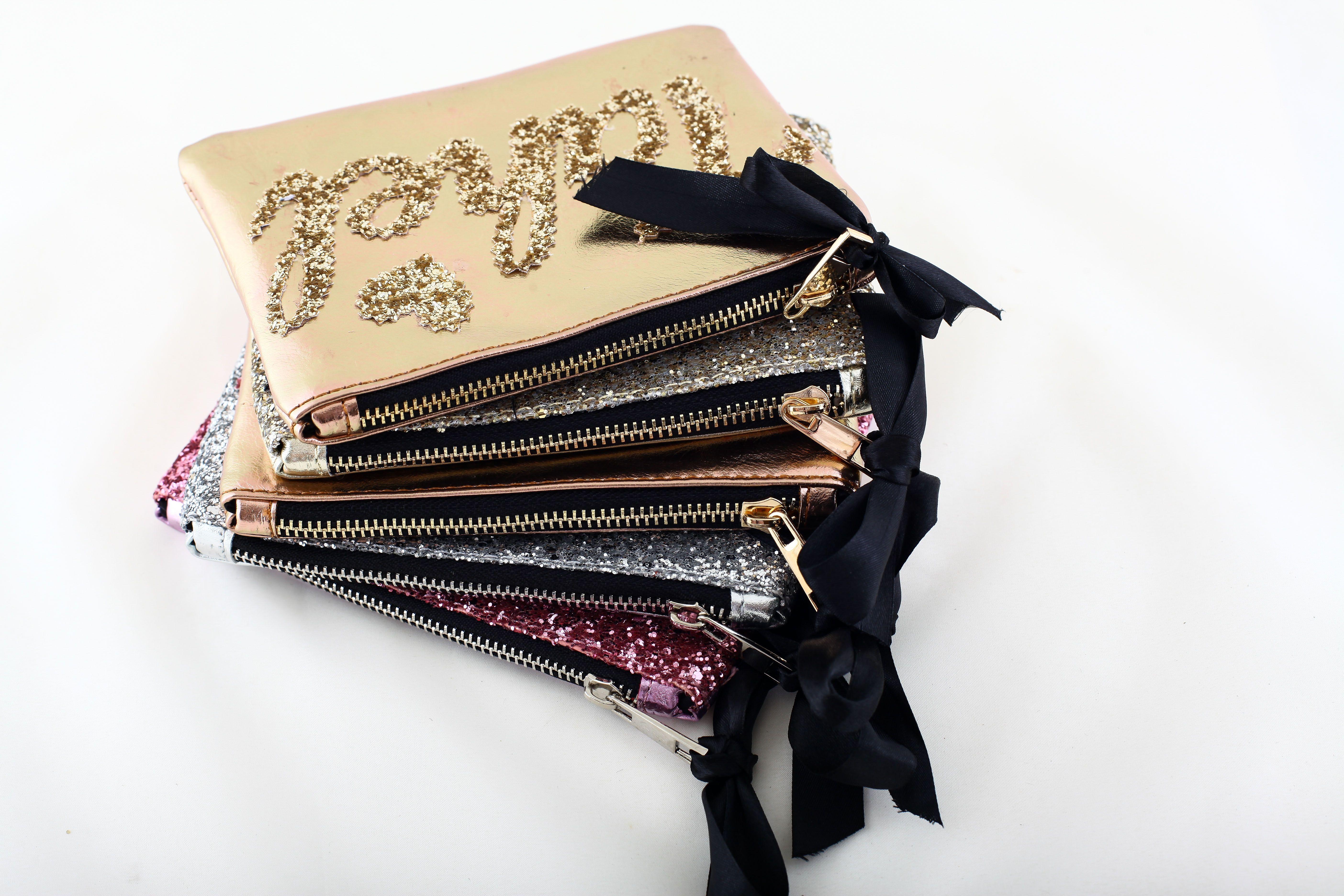 Personalized Makeup Bag Rose Gold Makeup Bag Bridesmaid