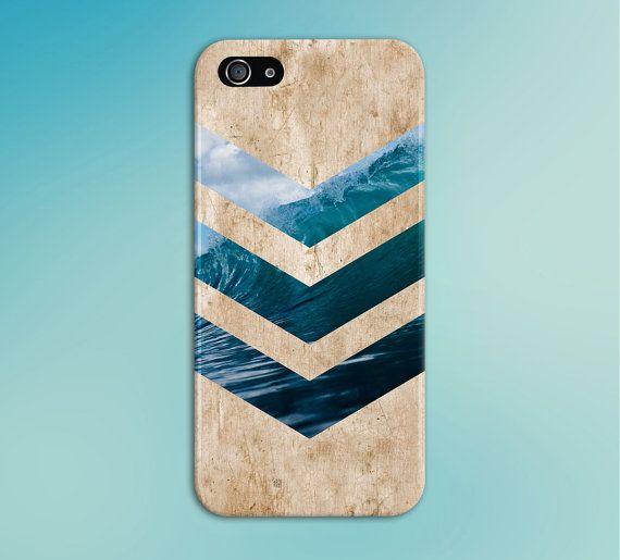 check out 38919 9b3b9 California Wave Surf Beach Chevron Light Wood Phone Case, iPhone X ...
