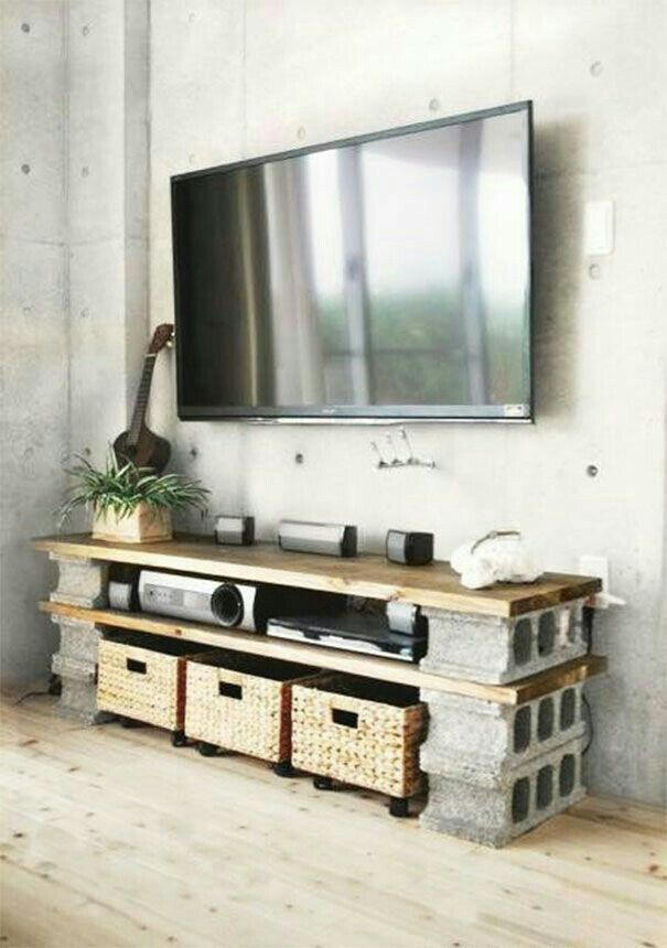 Tv möbel selbst gemacht  Pin von Vicky Watanabe auf Deco Rustica Interiores   Pinterest ...