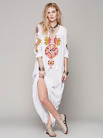 56ac8eb03fc Amazing Embroidered Maxi Dress from Free people. I need this ...