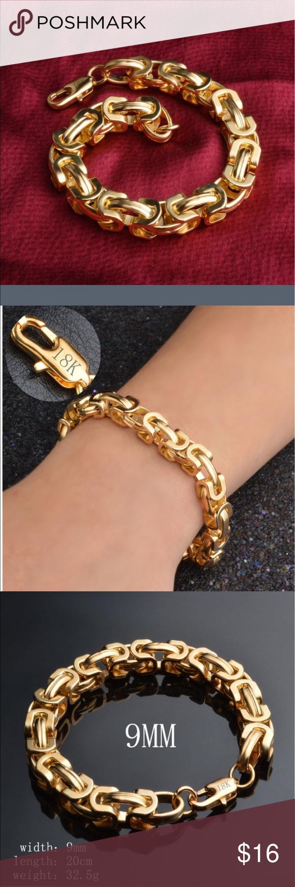 New bracelet k gold unisex and jewelry bracelets