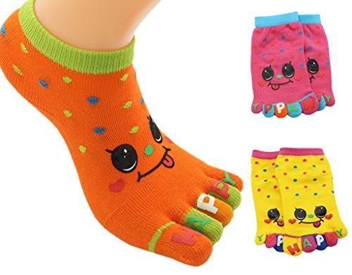 Bundle Pack of 1 For Kids Girls 6 BONAMART Funny Slipper Toe Socks 3 3-5 Years Old