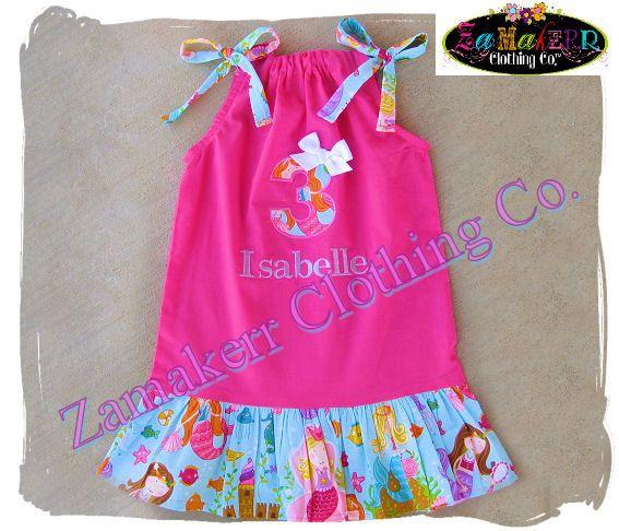Girl Mermaid Dress - Girl Pillowcase Dress Toddler Infant Baby Girl Clothes Size 3 6 & Girl Mermaid Dress - Girl Pillowcase Dress Toddler Infant Baby ... pillowsntoast.com