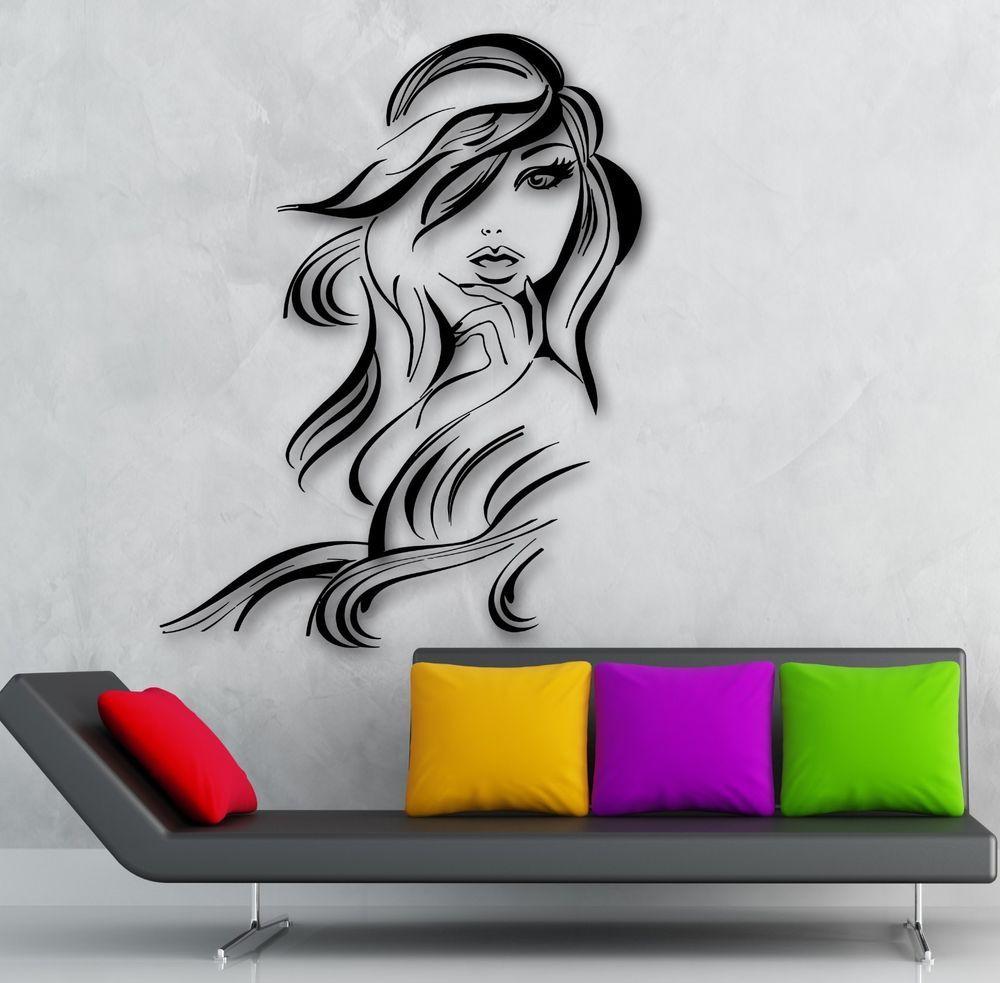 Woman silhouette decal removable wall sticker home decor art ebay - Wall Sticker Vinyl Decal Hot Sexy Girl Hair Beauty Salon Hairdresser Ig1872