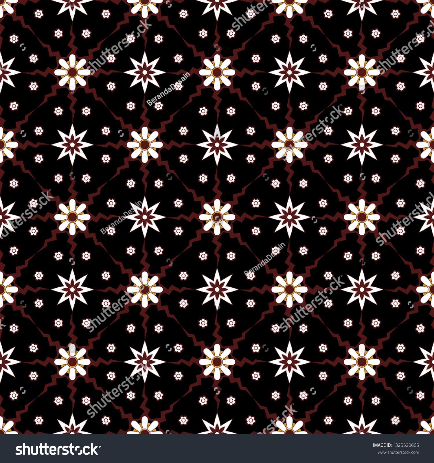 Simple Geometric Seamless Pattern Of Batik Motif