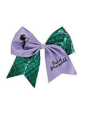 Ariel Hair Bow Little Mermaid Bow Purple Ariel Bow Sparkly Ariel Bow with Mermail Scales Disney Princess Bows Purple and Aqua Ariel Bow