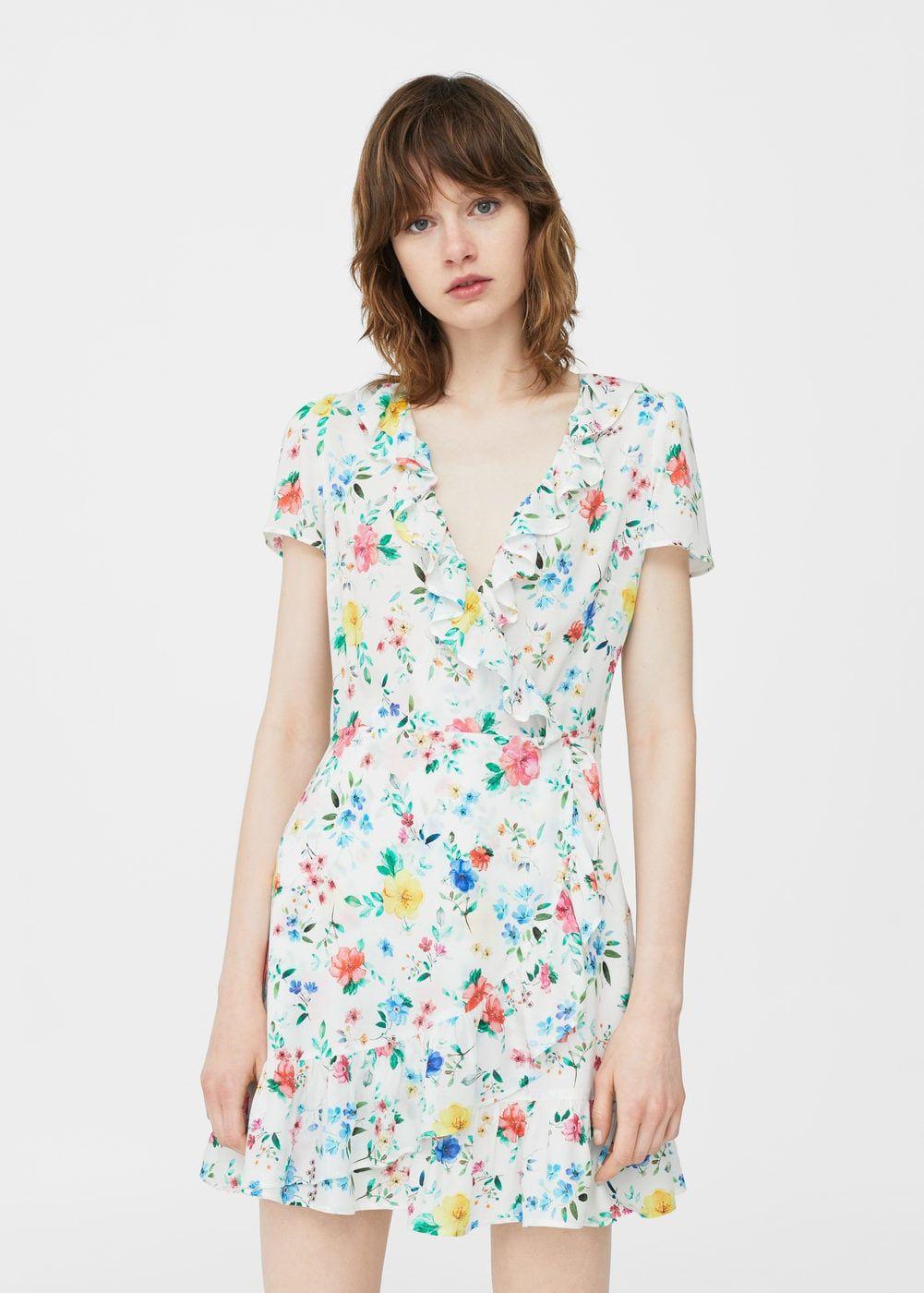 84b04178ce50 Robe cache-cœur à fleurs - Femme   Daily Wear ✧   Robe, Combishort ...