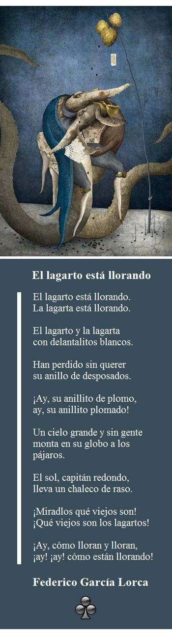 El Lagarto Está Llorando Poema De Federico García Lorca