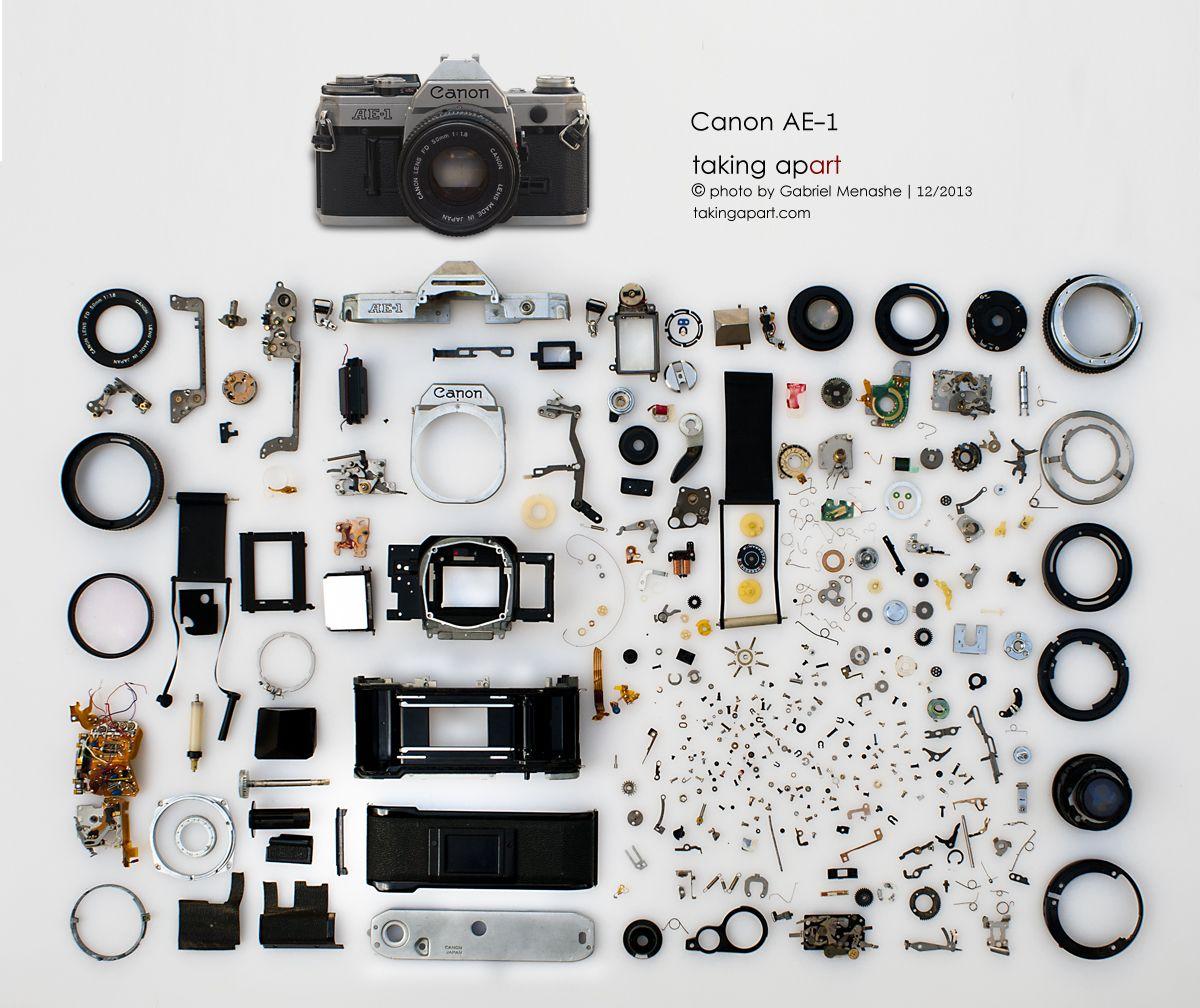 Canon AE-1 - Taking apart | Camera art, Buy posters, Take apart
