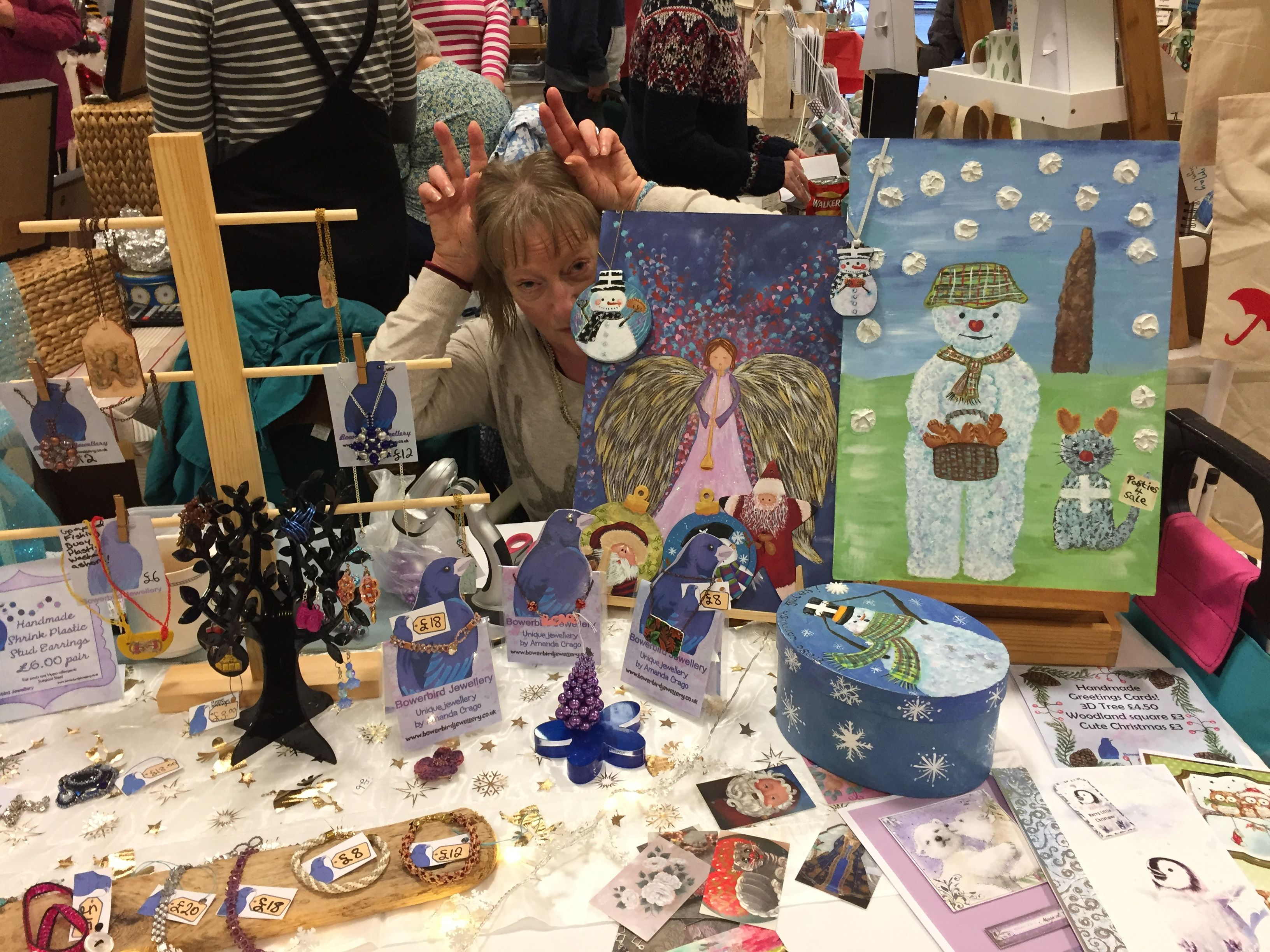 My Craft Table At Hellys Craft Fair Helston December 2016