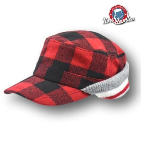 bd2f3f75ea6 Image result for Buffalo Check Wool and Shearling Fudd Cap