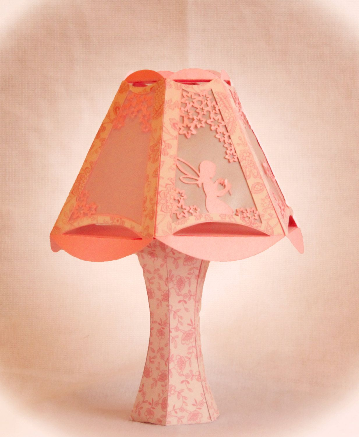 3D SVG Fairy Design Table Lamp Digital download Table