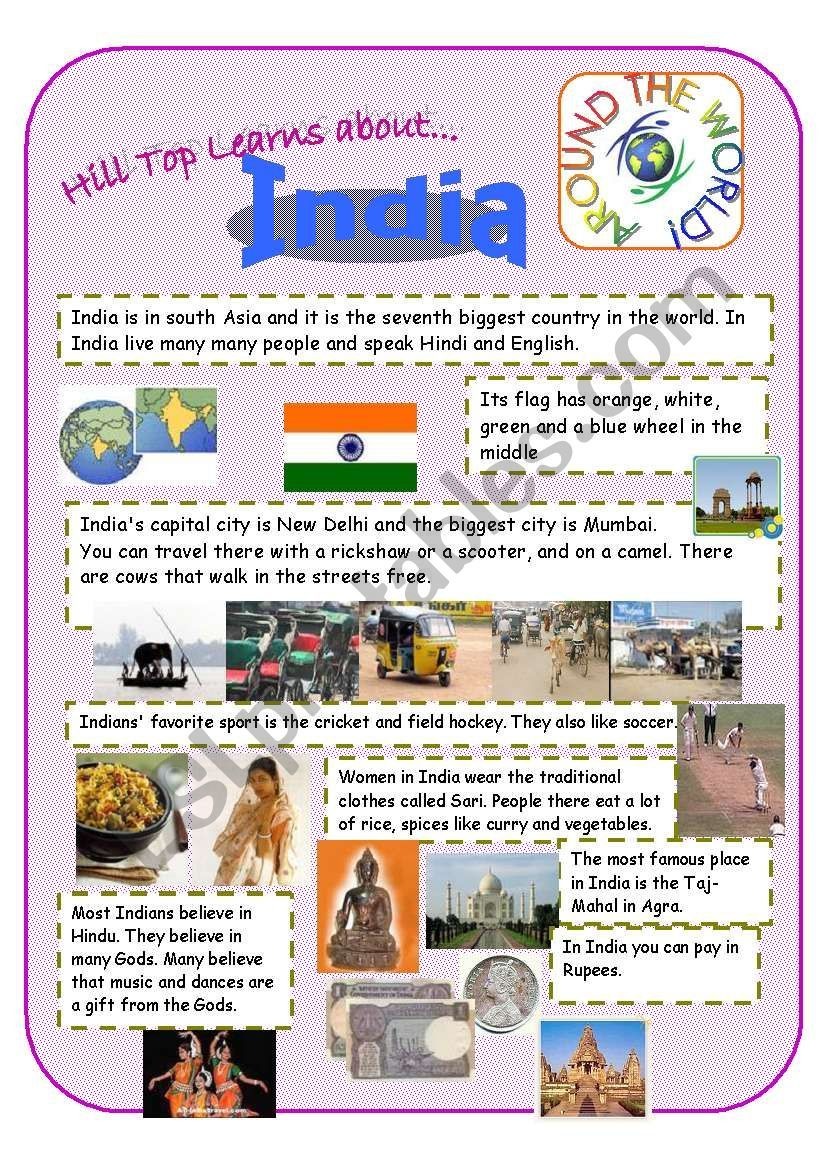 This Introduction Page Is Part Of A Jigsaw Activity Which I Prepared For My Students The Purpose Is To Read The Informa Vocabulary Worksheets India Worksheets [ 1169 x 821 Pixel ]
