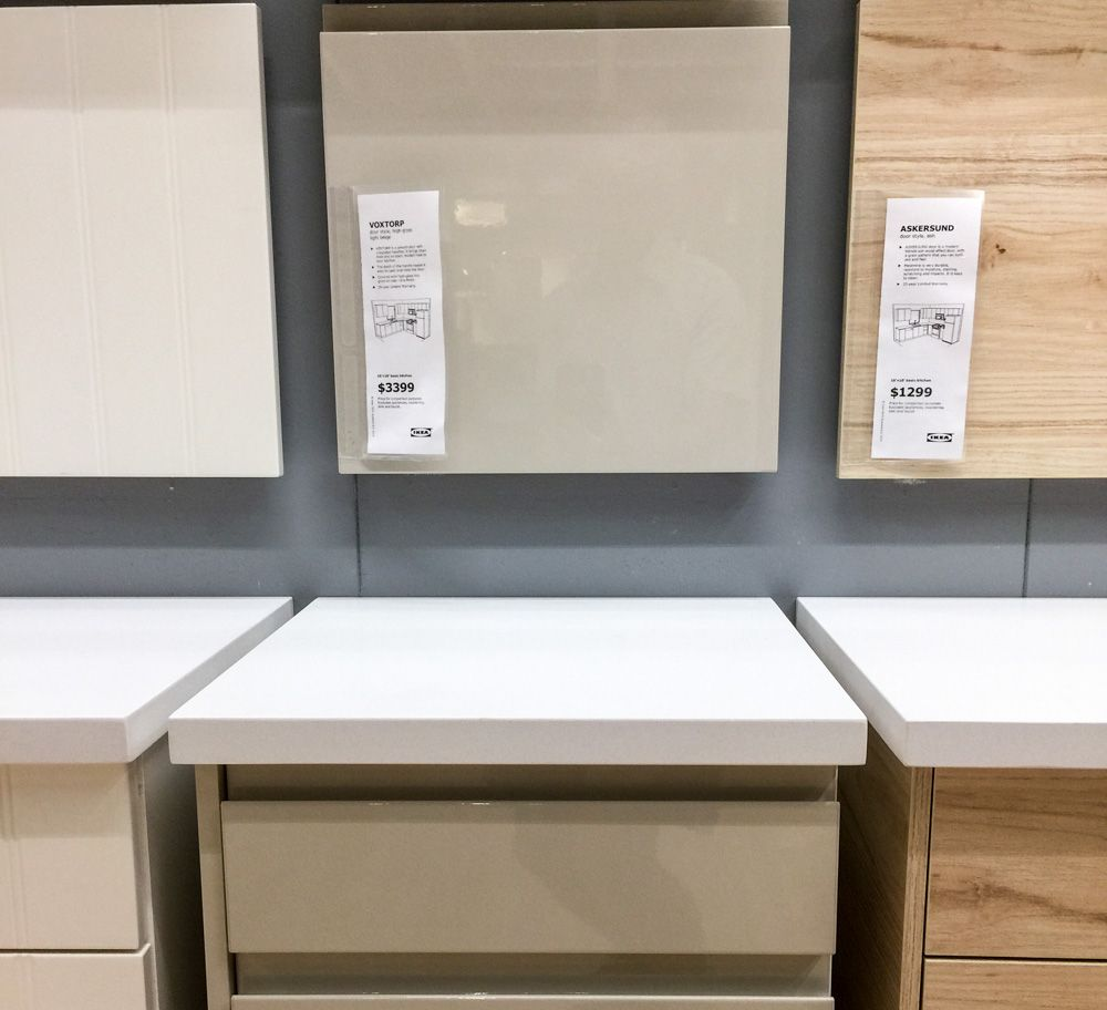 Ikea Küchenfront Askersund Ikea Voxtorp Beige And Askersund Doors Kitchen Design In 2019