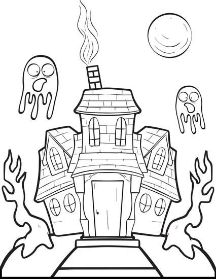 FREE Printable Haunted House Coloring Page For Kids Get This Free Halloween Here