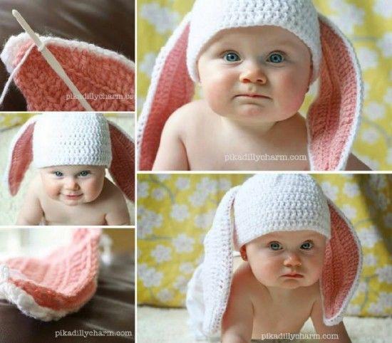 dfbab4c1ef2 Easter Bunny Floppy Ears Free Crochet Pattern woderfuldiy1 8 Wonderful Free  Patterns for Crochet Floppy Bunny hats