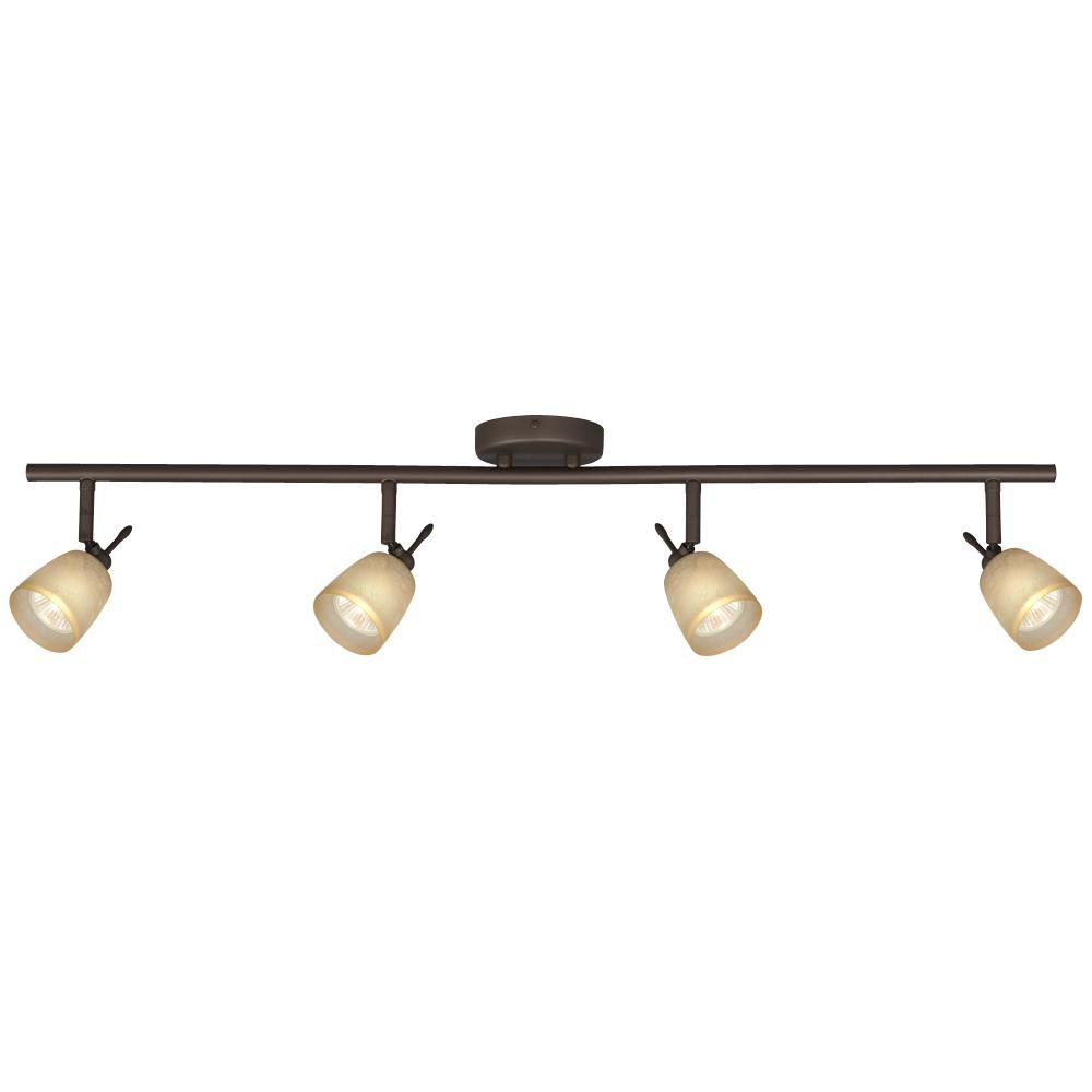 Filament Design N Oil Rubbed Bronze Track Lighting With Directional Heads At The Home Depot Tablet