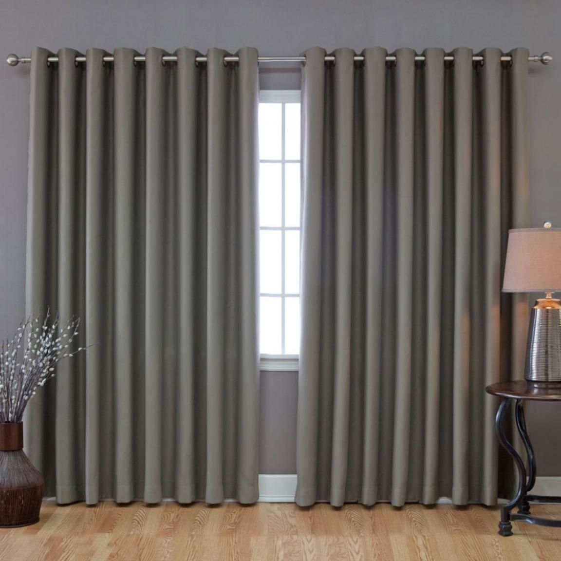 Grey Patio Door Curtain Design