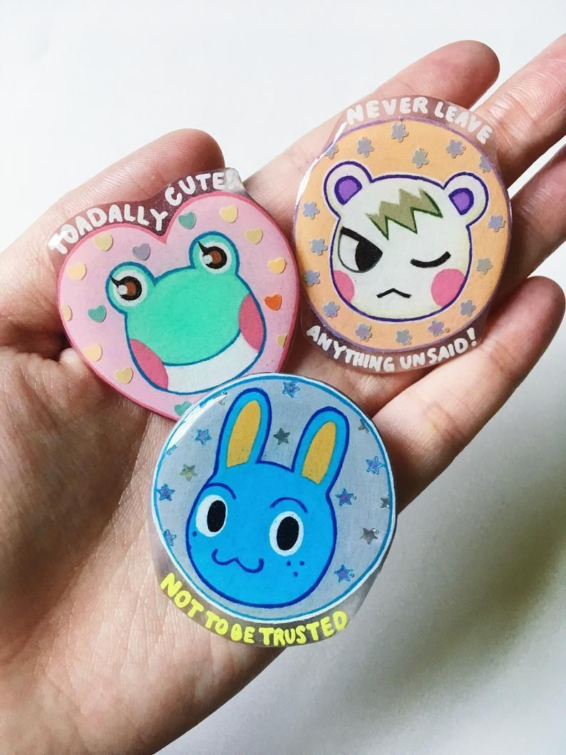 Animal Crossing Pins made by TheSardine -