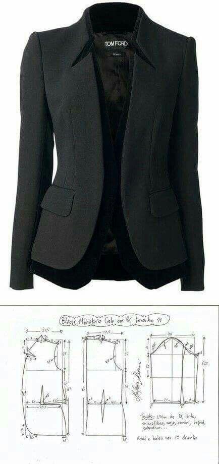 Pattern  Tom Ford Blazer   Women s fashion   Couture, Veste et Diy ... 46f411fd0bd8
