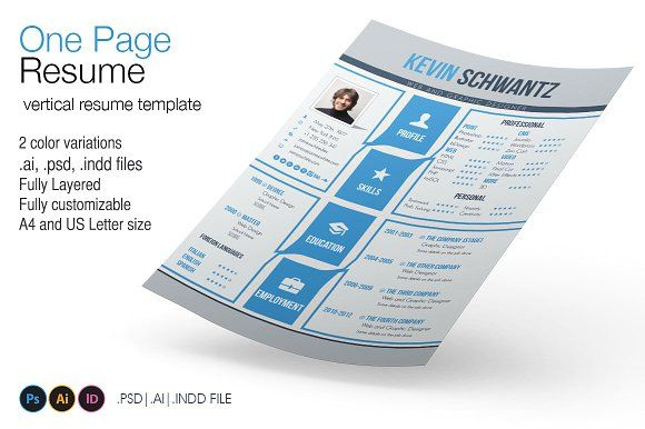 One Page Resume by 8Link on @mywpthemes_xyz Best Resume Templates
