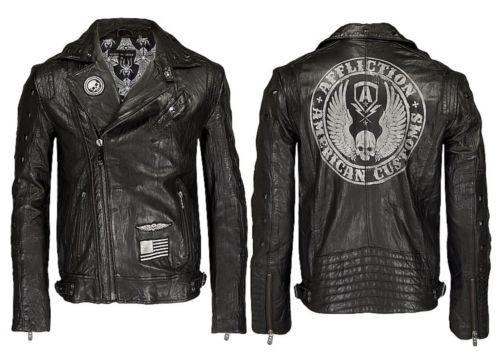 Reborn Nwt Black Jacket Premium Leather Biker Affliction xQoBrdCeW