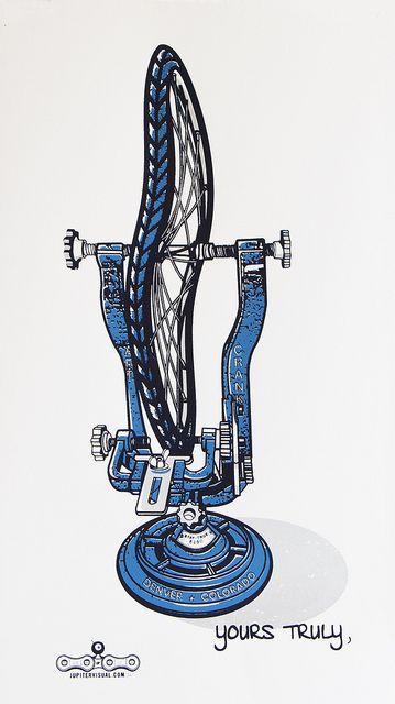 Skævt cykelhjul