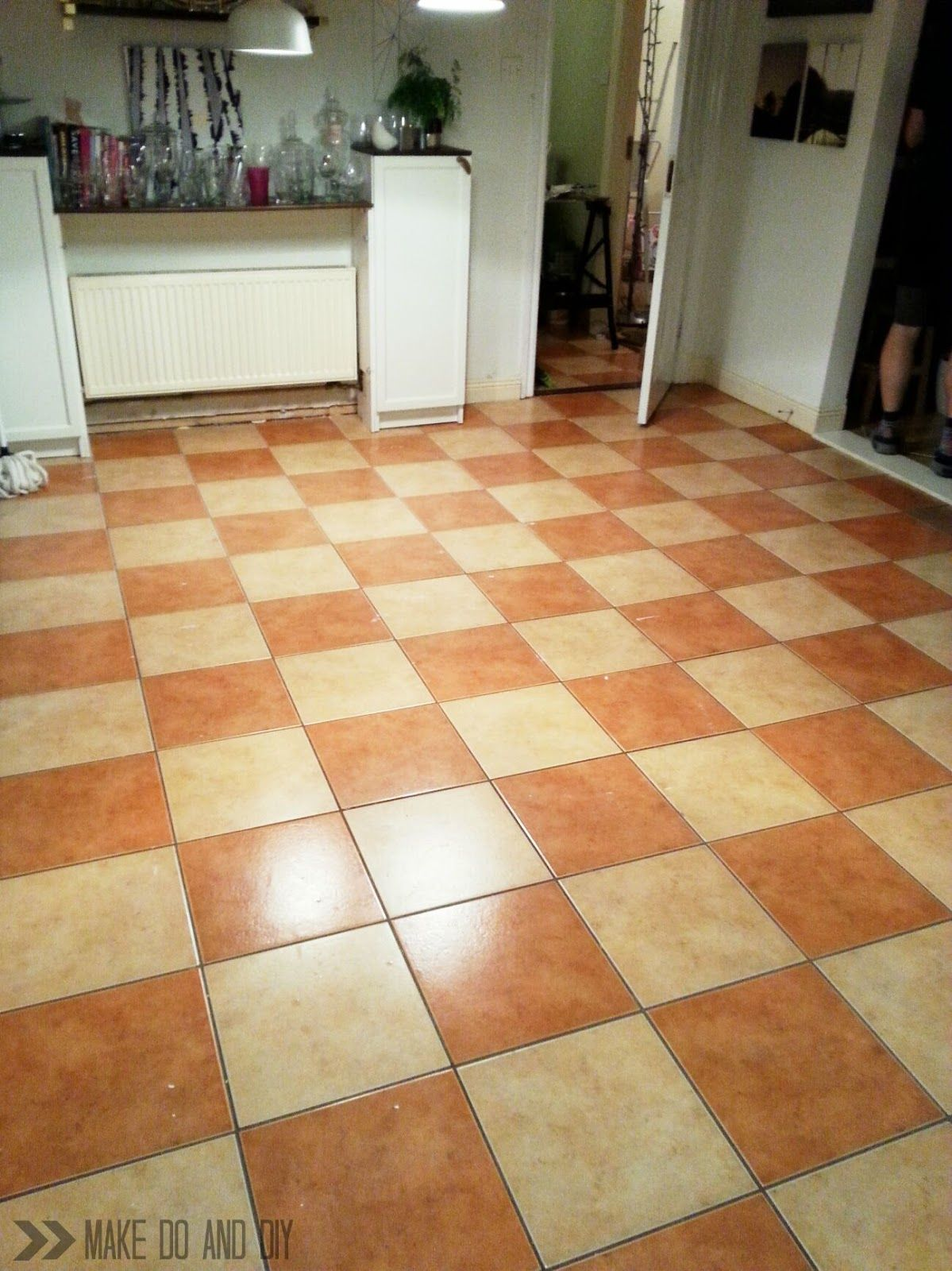 how to paint a tile floor, and what you should think about