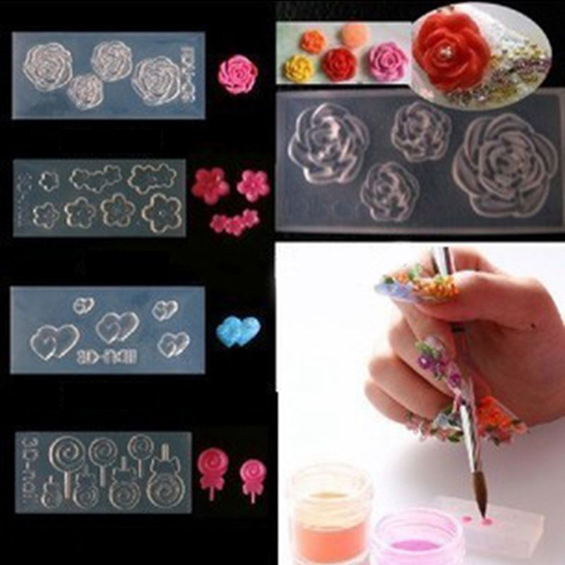 C Tree And Snowman Mold Cheap Nail Art Templates Buy Directly