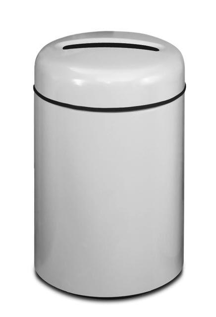 Poubelle De Recyclage En Fibre De Verre Au Couvert Rond Papier