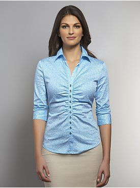 The Madison Button-Front Link Print Shirt